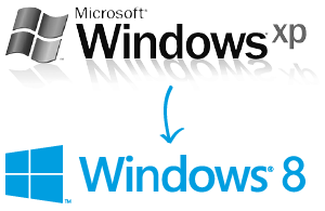 Windows XP -> Windows 8