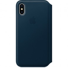 APPLE IPHONE X LEATHER FOLIO COSMOS BL (APMQRW2ZM)