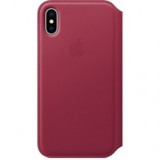 APPLE IPHONE X LEATHER FOLIO BERRY (APMQRX2ZM)