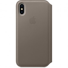 APPLE IPHONE X LEATHER FOLIO TAUPE (APMQRY2ZM)