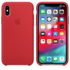 APPLE IPHONE XS SILICONE CASE RED (APMRWC2ZM)