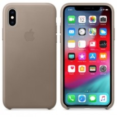 APPLE IPHONE XS LEATHER CASE TAUPE (APMRWL2ZM)