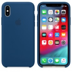 APPLE IPHONE XS SILICONE CASE BLUE (APMTF92ZM)